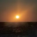 vlak voor zonsondergang